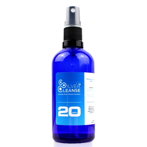 SilverCleanse 100ml Organic Colloidal Silver Spray (20 ppm)