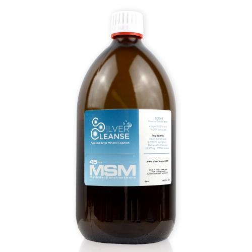 SilverCleanse™ 300ml Colloidal Silver 45ppm + MSM 25,000mg